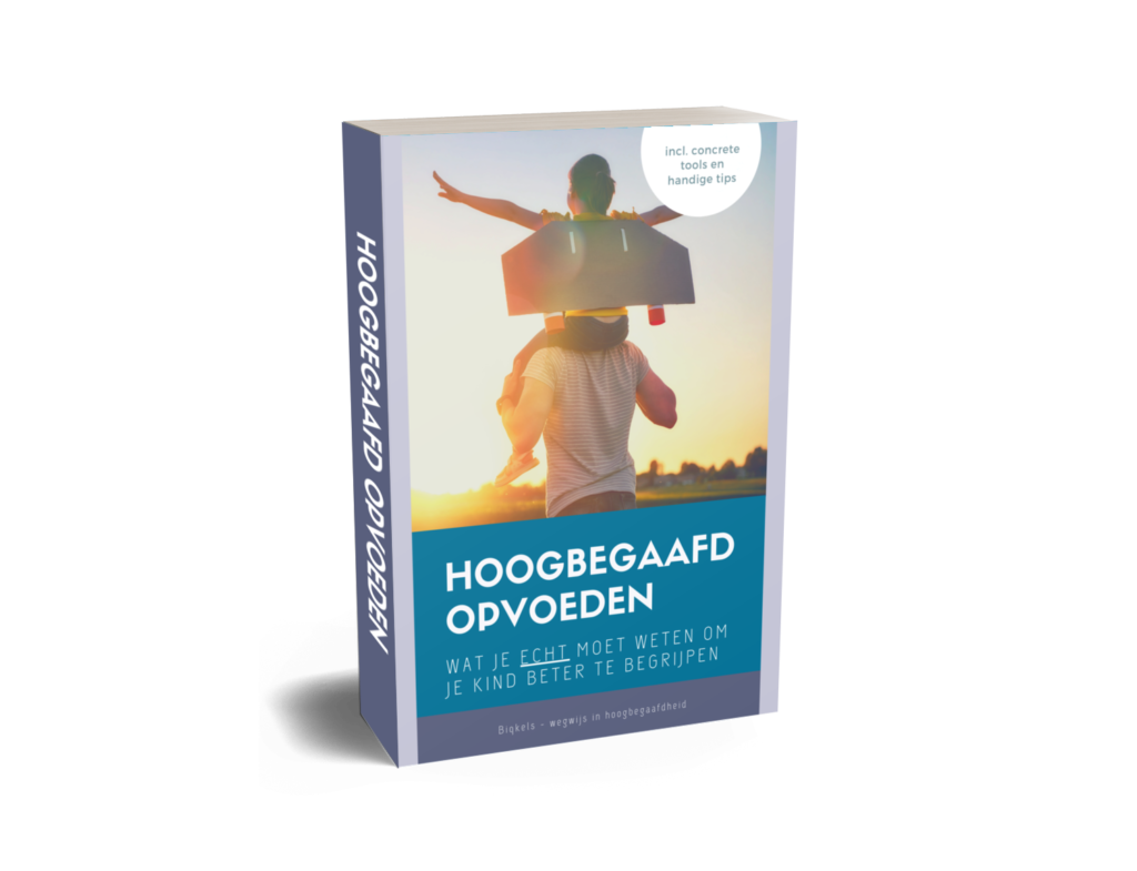 Gratis ebook Hoogbegaafd Opvoeden, incl. concrete tips en tools over hoogbegaafdheid en opvoeding.